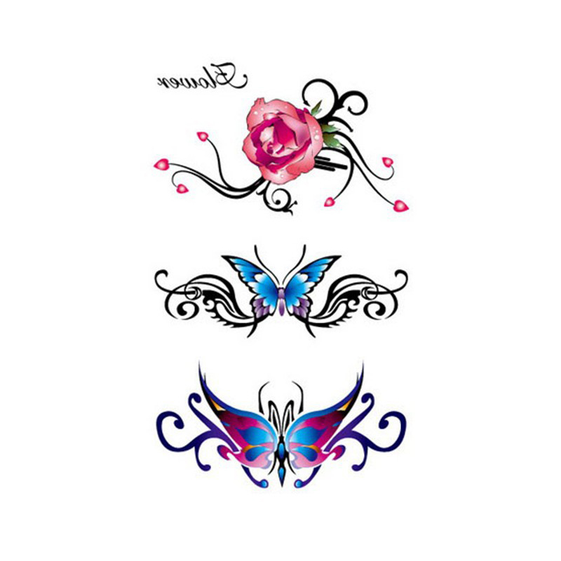 1 Piece Temporary Tattoo Sticker Water Transfer Wing: Aliexpress.com : Buy Colorful Flower Water Transfer