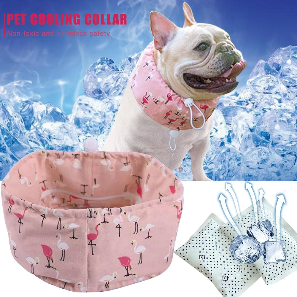 Adjustable Pet Cooling Bib Dog Towel Ice Scarf Chill Bandana Dog Collar For Summer Cool Comfortable Fabric With Ice Pack