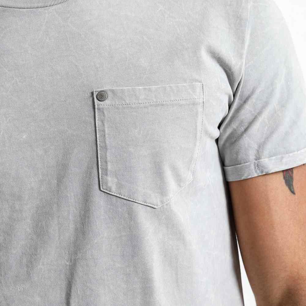 SIMWOOD 2019 verano nueva camiseta de lavado ácido para hombre Camiseta Vintage de alta calidad 100% algodón hip hop camiseta tops TD017108