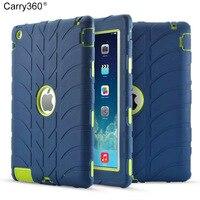 צמיג Carry360 שריון Case עבור iPad 2 iPad 4 ילדים בטוחים עמיד הלם Heavy Duty סיליקון מקרה כריכה קשה עבור Ipad 2 3 4 שולחן
