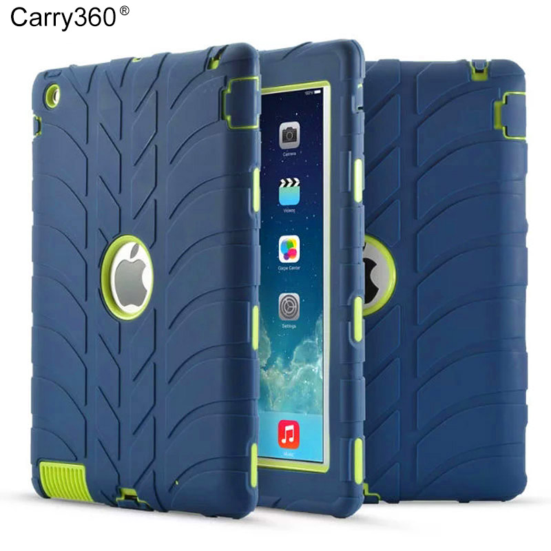 Carry360 Tire Armor Case For iPad 2  iPad 4 Kids Safe Shockproof Heavy Duty Silicone Hard Cover For Ipad 2 3 4 Table Case for apple ipad2 ipad3 ipad4 case kids safe armor shockproof heavy duty silicon pc stand back case cover for ipad 2 3 4 tablet pc