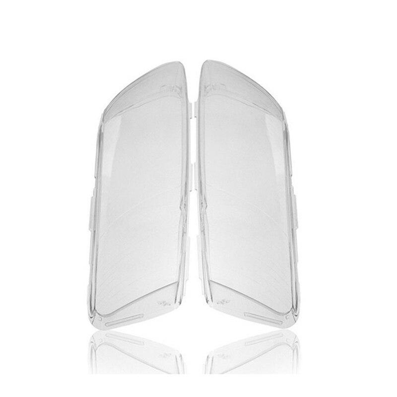 1 Pair Front Left&Right Car Headlight Head Light Lamp Lens Light Cover For Audi A6 C6 06-11