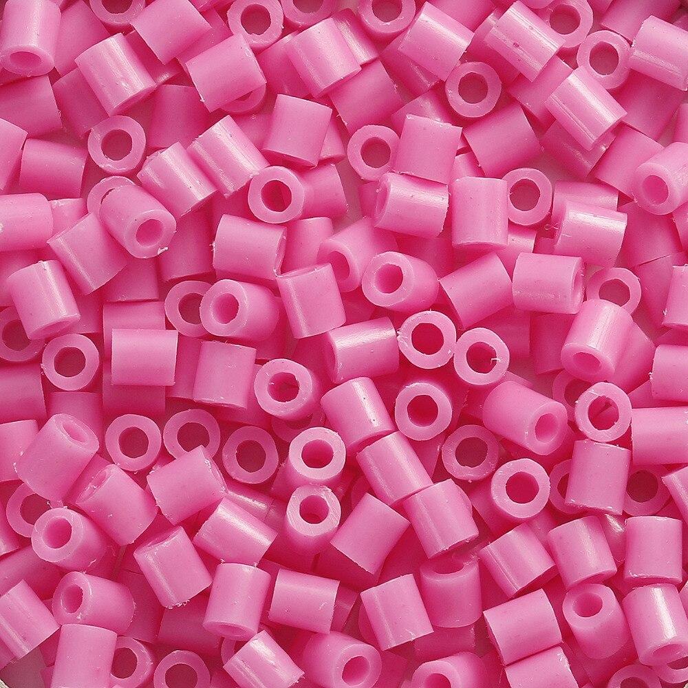 DoreenBeads 5mm 1000pcs Hama Beads Fuse Beads DIY Toy Puzzle Kids Child Intelligence Educational Craft Toy Cylinder 16 Colors