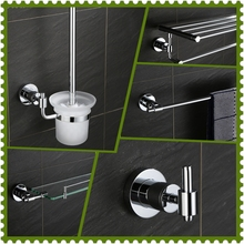 Наборы из нержавеющей стали для ванной комнаты Набор полотенец набор полотенец кольцо мыльница хром серебряный туалетный набор аксессуары держатель туалетной щетки