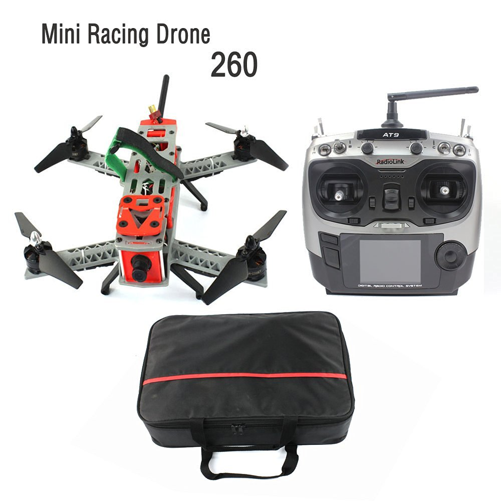 JMT Mini 260 SP Racing F3 DIY Quacopter ARF/No Battery FPV RC Drone 2.4G 9CH 5.8G Video TX 700TVL HD Camera Carry Bag F16051-L