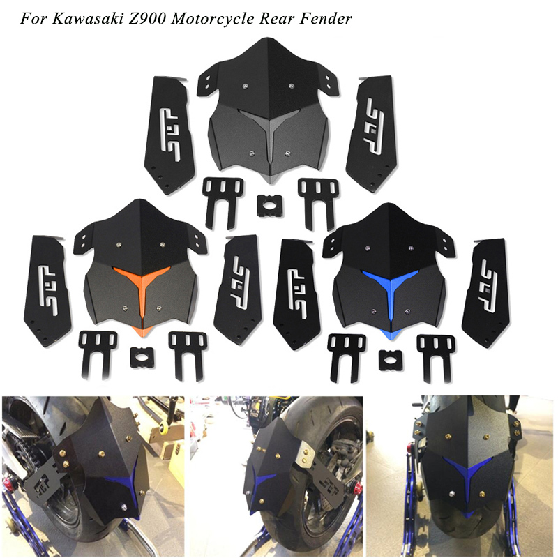 2017 2018 Silp on for Kawasaki Z900 Rear Fender Modified Motorcycle Mudguard Aluminum alloy With Bracket