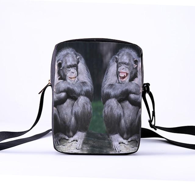 7391495a24 CROWDALE 2018 Women Messenger Bags 23x17x5cm 3D-Denim Animal Shoulder Bag  Golden monkey Children Crossbody Bag Kawaii Bags