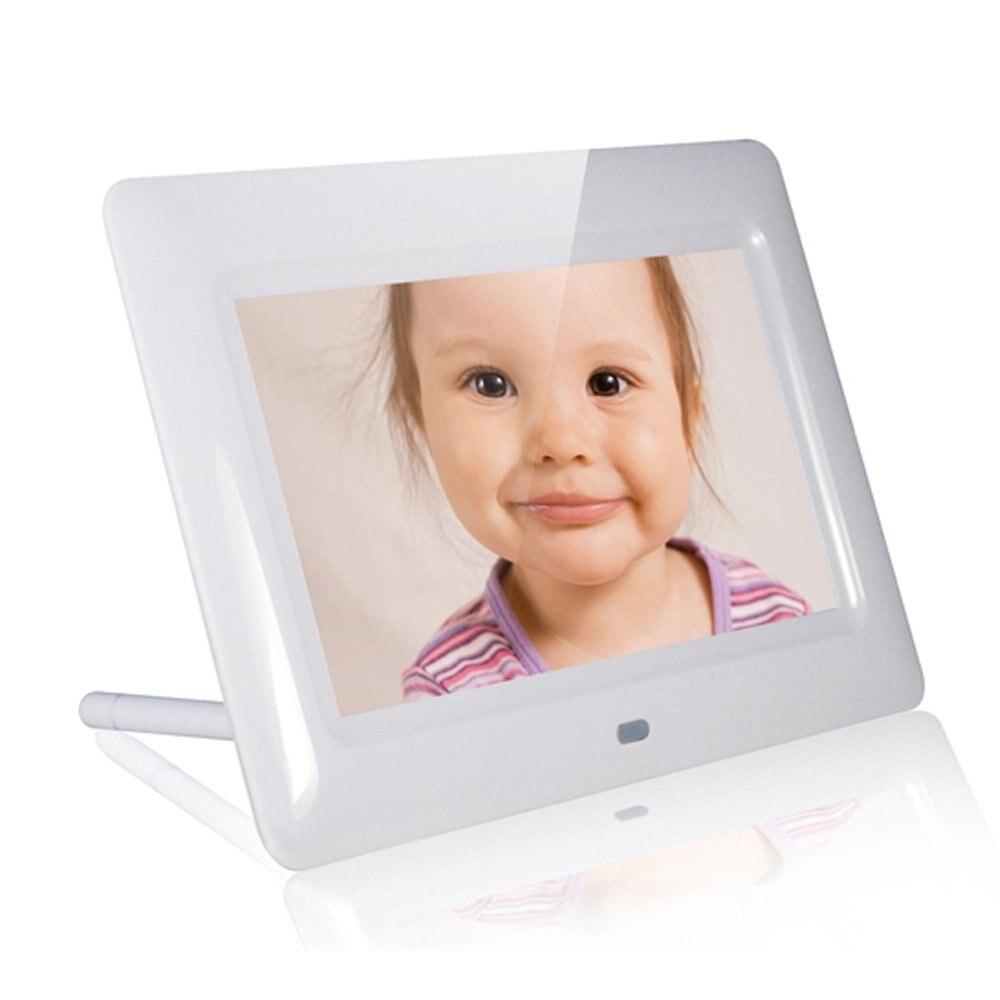 Новый xuenvo X70 7 дюймов HD LED цифровая фоторамка электронный фотоальбом MMC SD карты U диск воспроизведение видео muisc фото. ...