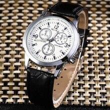 Роскошные модные брендовые кварцевые часы для мужчин и женщин, повседневные кожаные бизнес-часы с браслетом, наручные часы, мужские часы
