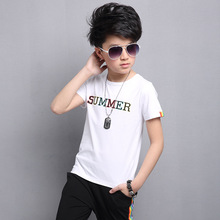 Europe&America 2017 New Summer season Youngsters and adolescents Cotton T Shirt+shorts Youngsters Clothes Set tracksuits pullovers swimsuit