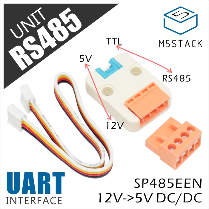 M5Stack Official RS485 To TTL Unit GROVE Grove Cable UART Interface For Arduino ESP32 Development Board Module SP485EEN IoT