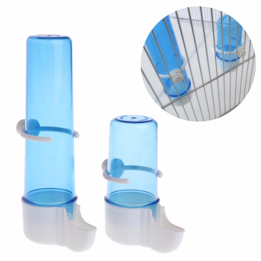 #1 Alimentatore automatico per pappagalli Alimentatore automatico per conigli per animali domestici Parrot Bird Alimentatore dacqua per biberon Criceto Alimentatore con sfera in acciaio inossidabile
