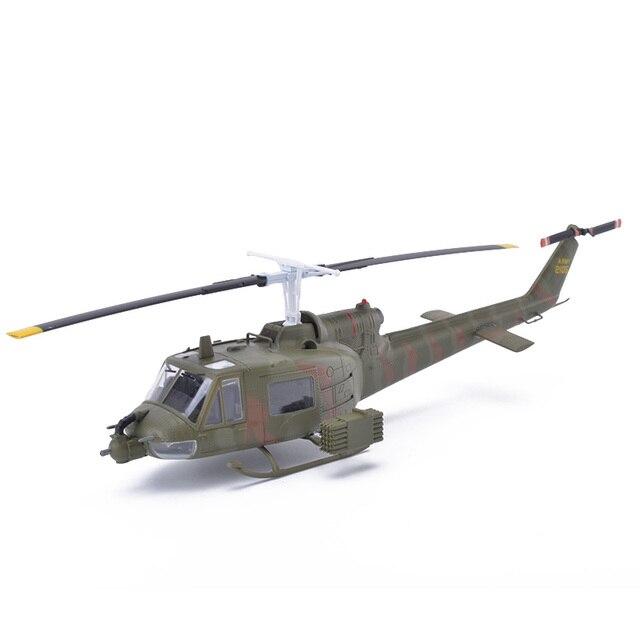 Легко Модель UH-1B Huey Вертолет Модели Масштаба 1/72 Литья Под Давлением Готовой Модели Игрушки Для Сбора