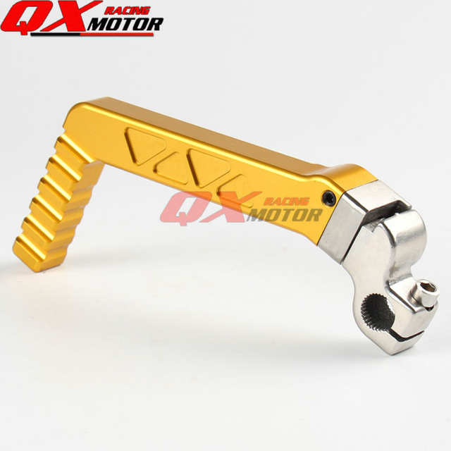 US $23 58 12% OFF|13mm CNC Forged Kick Start Starter Lever Pedal Gold For  CRF BBR KLX TTR 50 70cc 110cc 125cc ZS YX LF Engine Dirt Pit Bike Parts-in