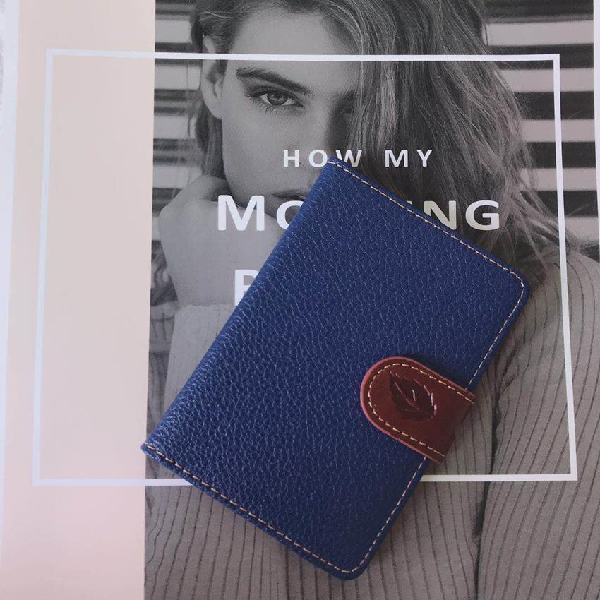 Fashion Women Men Lichee Pattern Bank Credit Card Holder Female Leather Card Package Coin Purse Business card holder porte carte image
