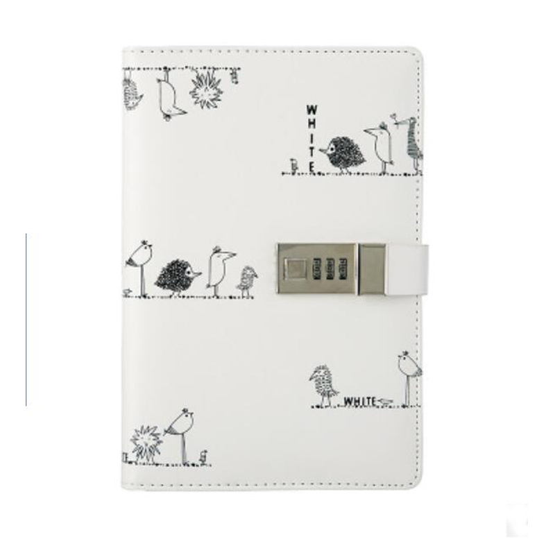 A5 Thicker PU Leather Journals Note Books Secret Diary With Lock Password Lined,Locking Journal Diary TPN090