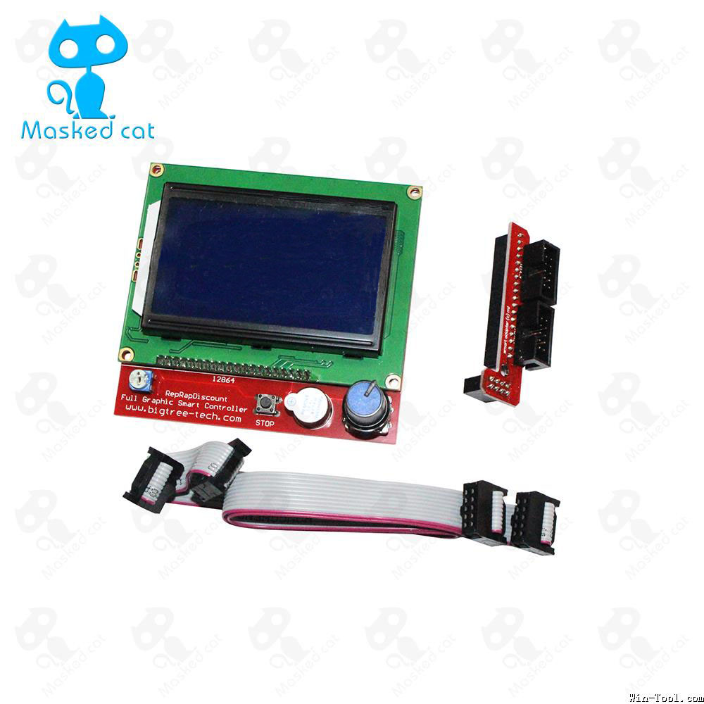1pcs 12864 LCD Ramps Smart Parts RAMPS 1.4 Controller Control Panel LCD 12864 Display Monitor Motherboard Blue Screen Module 1 pcs ramps1 4 lcd 12864 control panel 3d printer smart controller lcd display free shipping drop shipping l101