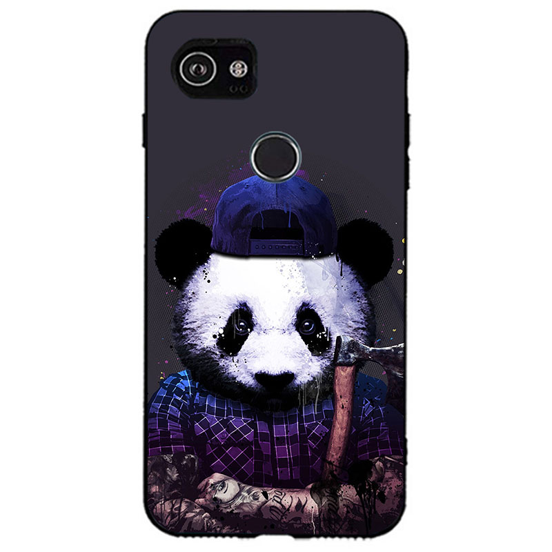 Soft Silicone Phone Cases For Google Pixel 3 Soft TPU Panda Cover Coque For Google Pixel 3 Print Painting Animal Style Case