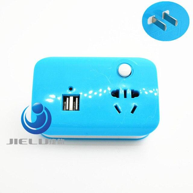 mini portable blue extended socket Household Plugs adaptor plug US ...
