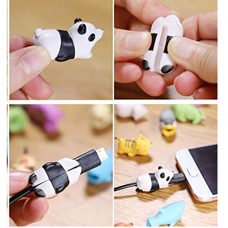 1 pcs Animal Cable bites Protector for Iphone protege cable buddies cartoon Cable bites kabel diertjes Phone holder Accessory 3