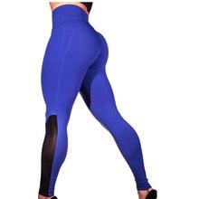Rylanguage 2019 European Style Black Mesh Sheer High Waisted Leggings Breathable Pencil Sport Pants For Women Slim Leggin