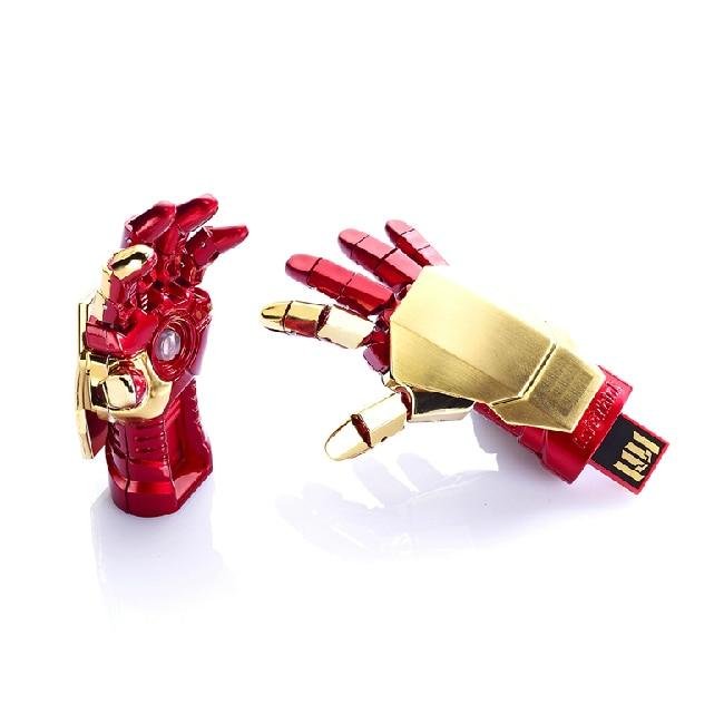 Avengers Iron Man Hand USB 2.0 Schijf Creativo Pendrive 512 GB Flash Drive 1TB Memory Stick Kaart Geschenk 32 GB 64 GB 128 GB Pen Drive