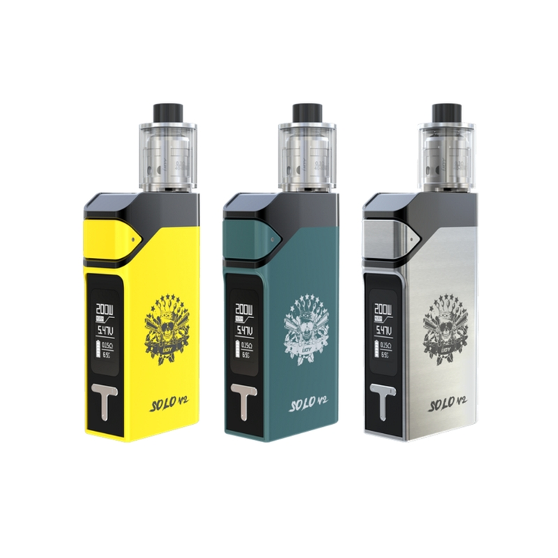 Authentic IJOY SOLO V2 200W Box KIT 2ml IJOY SOLO V2 Starter Kit with Limitless Subohm