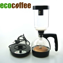 Freies Verschiffen elektrische Kaffeemaschine Siphon 3 Tassen gezählt Siphon Kaffeemaschine