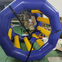 Забавный надувной шар для катания детские надувные игрушки для воды водяное колесо для бассейна или Аква парка Прокат с использованием