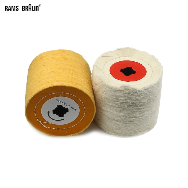 1 piece 120*100*19mm + 4 Groove, Cotton Cloth Polishing Buffing Wheel for Metal Finishing