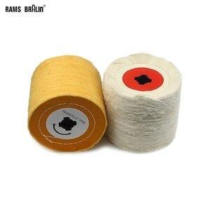 Image 1 - 1 stück 120*100*19mm + 4 Nut, Baumwolle Tuch Polieren Polieren Rad für Metall Finishing