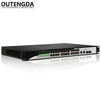 24 10/100Mbps POE Switch Standard 802.3af/at Switch with 2* 1000Mbps UPlink and 2 Gigabit SFP for IP Camera, Wireless AP