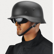 German M35 Helmet Black World War II Modified Cool Electric Scooter Motorcycle