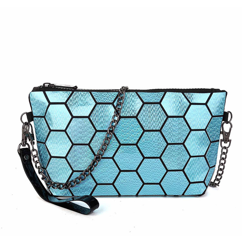 Handbag Female Folded Geometric Plaid Bag Fashion Casual Women Handbag Shoulder Bag