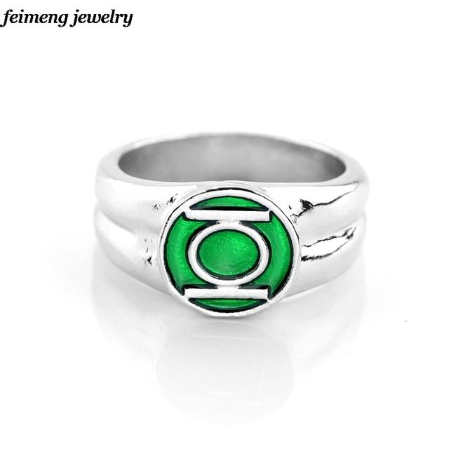 nueva joyera de dc comics marvel anillo de linterna verde el superhroe verde esmalte anillo