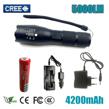 Lanterna Flashlight CREE XM-L2 5000lm LED Torch Zoomable Linternas LED Flashlight Tactical flashlight For 3xAAA or 1×18650
