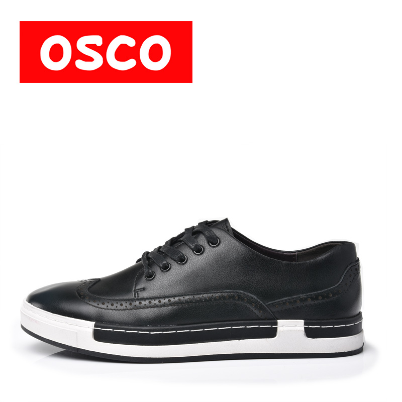 OSCO Factory direct  ALL SEASON New Men Shoes Fashion Men Sneakers  COW LEATHER Shoes#A1516