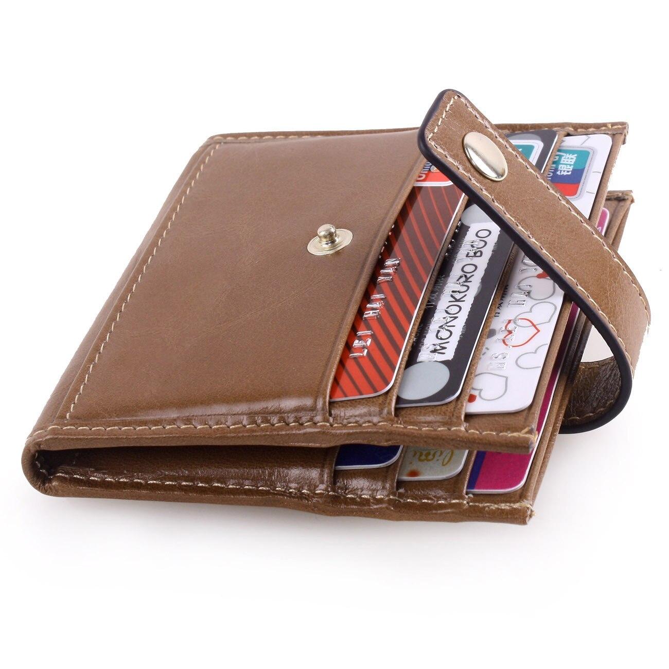 Aus Dem Ausland Importiert Neue Card Bag Identifikation-halter Echtem Leder Brieftasche Kalbsleder Schnalle Scheckkartepaket Geldbörse Männer Und Frauen Universal Business Attraktives Aussehen