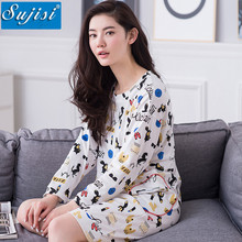 Autumn Cotton Women Nightgown Long Sleeve Sleepwear Women Night Dress Robes Sleepshirts Plus Size M-XXL winter pijama dress girl