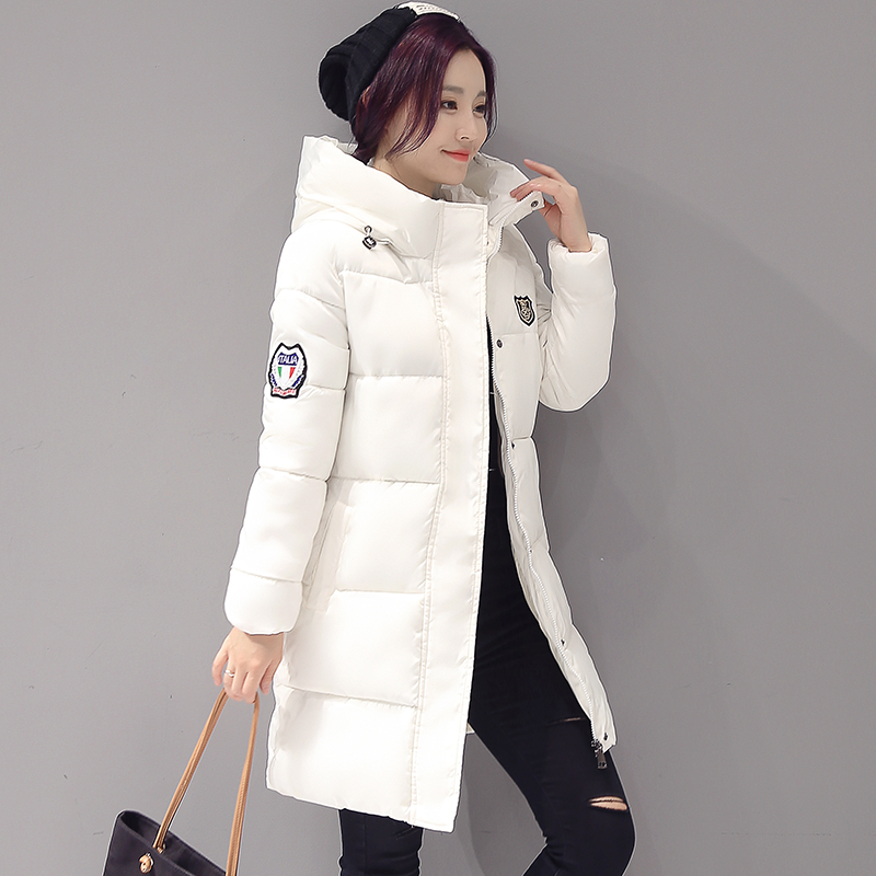2017 Winter Snow Parka Women Coat Plus Size M-3XL Hoooded Slim Winter Jacket Women Fashion Mid Long Black White Red Pink Parkas футболка skills red line snow white xl
