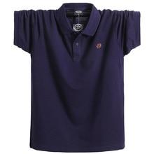 Neue Männer Polo Shirt kurzarm plus größe 6xl 7xl 8xl männer Solide Polo Shirts Camisa Homme Plus Größe Business tops Tees