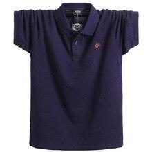 New Men Polo Shirt short sleeve plus size 6xl 7xl 8xl men Solid Polo Shirts Camisa Homme Plus Size Business Tops Tees