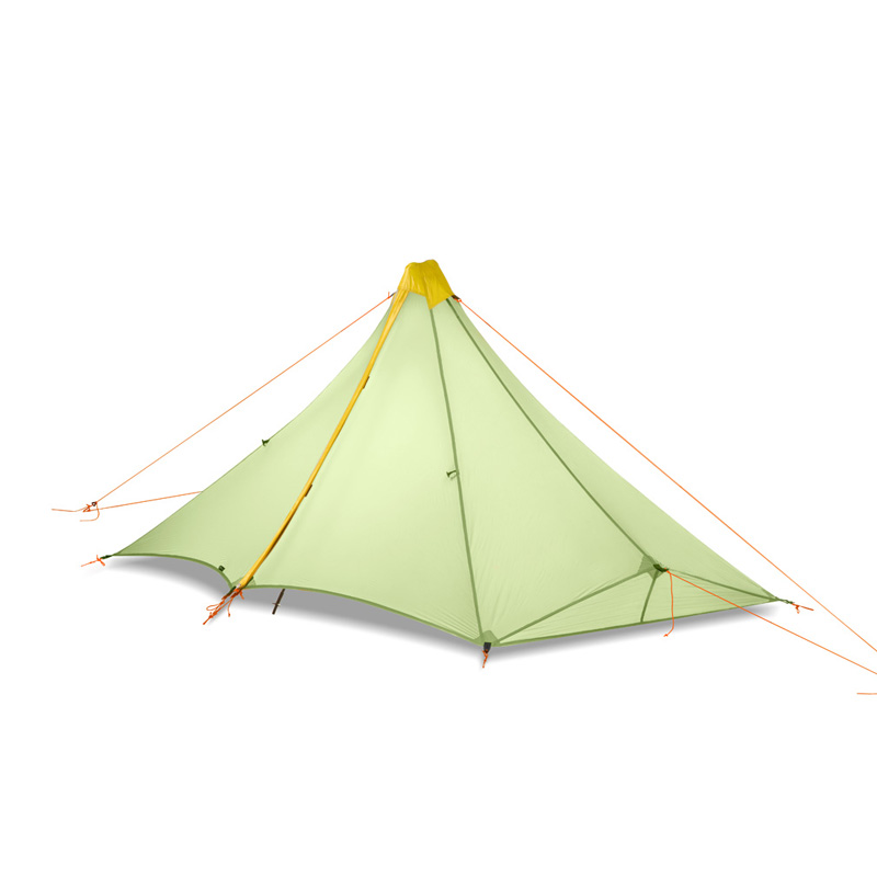 Ultra-léger 1 personne 410G tente de Camping en plein air 20D Nylon des deux côtés revêtement en silicone pyramide sans fil extérieur zelt tente 4 saisons