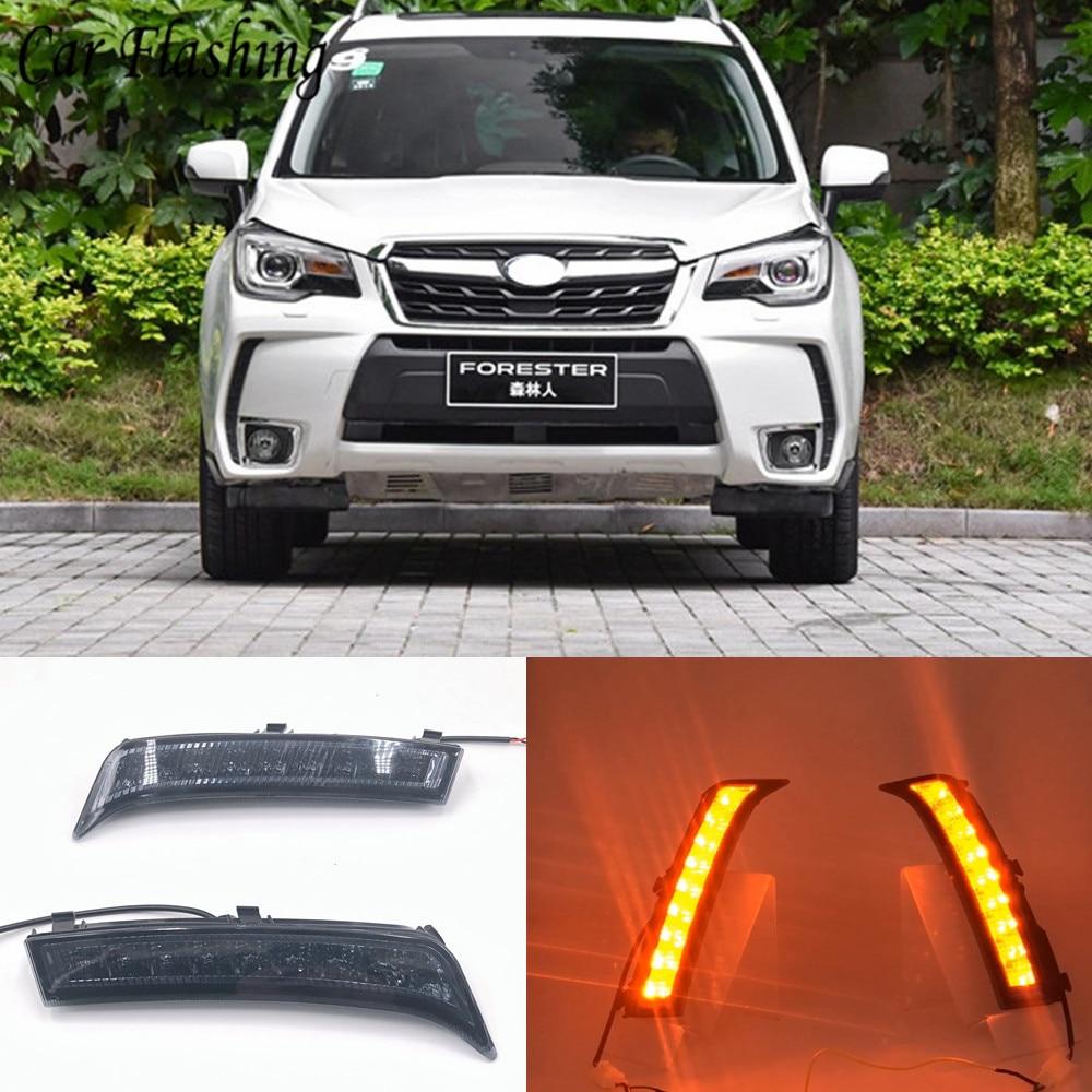 Car Flashing 1 set For Subaru Forester 2013 2014 2015 2016 2017 2018 LED DRL Daytime