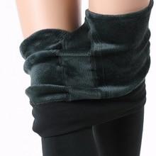 Outono Alta Elasticidade Boa Qualidade Inverno Quente Leggings Mulheres Calças de Veludo Grosso Leggings Natal 2017(China (Mainland))