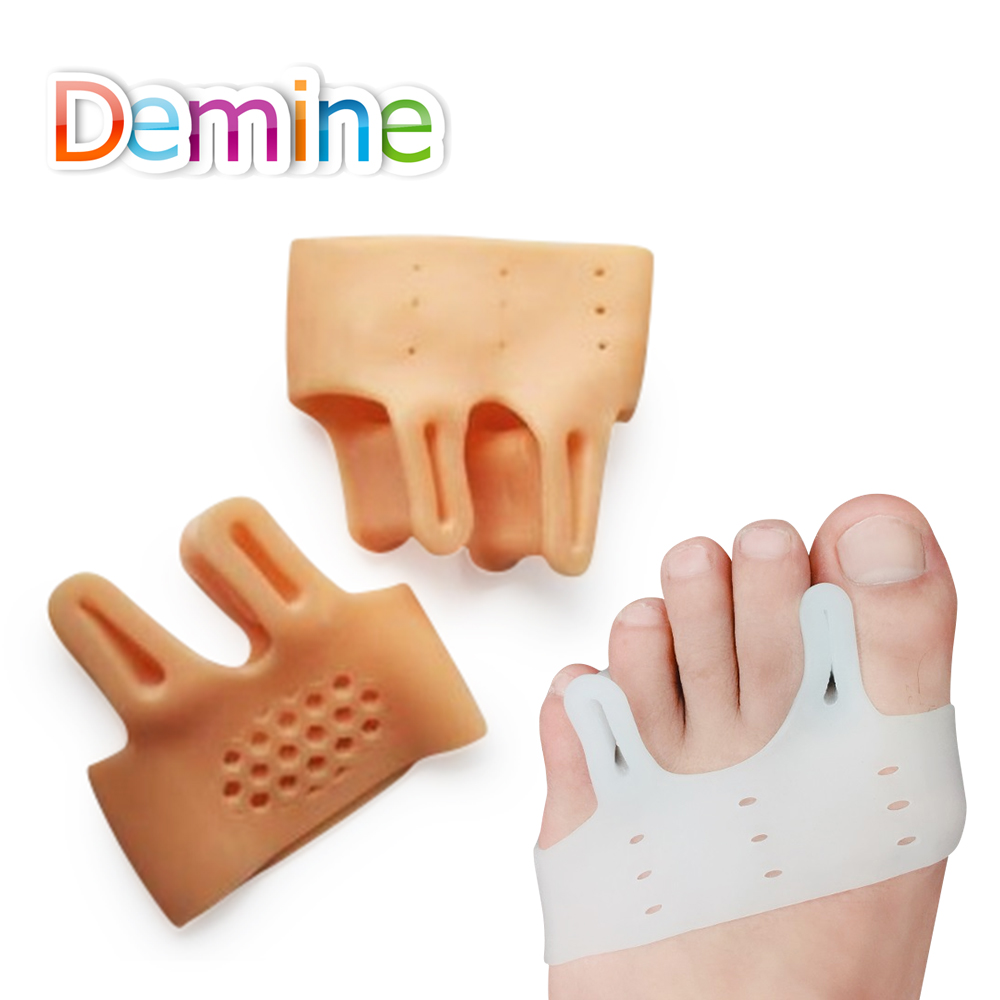 Demine Toe Protector Shoes Pads Bunions Soft Gel Hallux Valgus Toes Shoes Inserts For Pain Relief Shoe Cushion