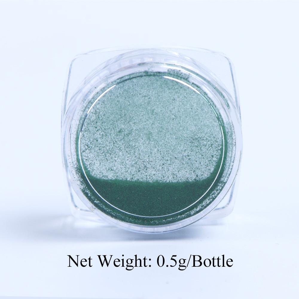 0.5g Nail Mirror Glitter Powder Metallic Color Nail Art UV Gel Polishing Chrome Flakes Pigment Dust