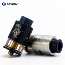 100% Oringnal Mad Hatter 24 RDTA Upated Electronic Cigarette Atomizer 24mm Mad Hatter RDTA with HInged Flip Top Cap