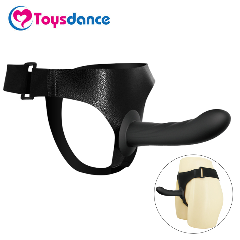 Toysdance Sex Products For Lesbian Silicone Strap On Dildo Harness Kits Black Penis For Women Female Couples Sex Toys Big Cock lovetoy lace design brief strap on dildo harness with big penis adult game nylon