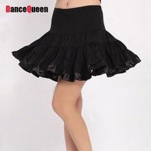2018 Pleated Cheerleading Skirt Latin Dancing Skirts Plus Size Ballroom Dance Costumes Singer Wear Women Jazz Dance Wear